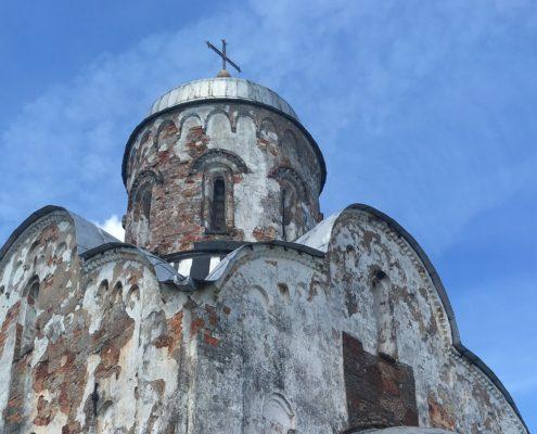 Реставрация купола церкви Никола на Липне 1292г.